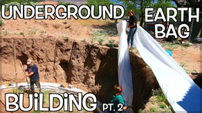 building an underground earth bag bunker tiny house part 1