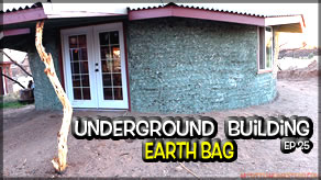 Underground Earthbag Building Ep 25 | Exterior Paint