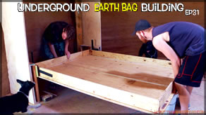 Weekly Peek | Underground Earthbag Building Ep 31 | Murphy Bed Springs into Action!