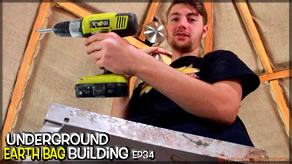 Weekly Peek | Underground Earthbag Building Ep 34 | Tying Up Some Loose Ends