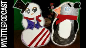 Making Christmas Snowman & Penguin Decorations Contest | Livestream | My Little Podcast