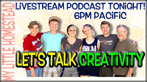 LIVESTREAM Podcast Tonight! Let's Talk Creativity