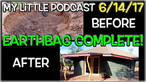 My Little Podcast MusArt Studio | Underground, Earthbag Building Completion!