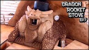 Weekly Peek | Dragon Rocket Stove Mass Heater Ep7 | Dragon Sculpting