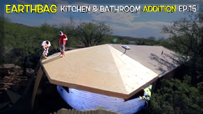Roof Sheeting Complete & a Trip to Florida | Kitchen & Bathroom Earthbag Add-on Ep15 | WP