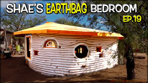 Installing Round & Regular & Drive Thru Windows  | Shae's Earthbag Bedroom Ep19 | Weekly Peek