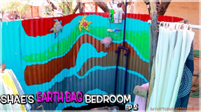 Foundation Stall & Outdoor Shower Walk-Thru | Shae's Earthbag Bedroom Ep2 | Weekly Peek