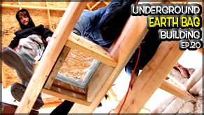 Underground Earth Bag Construction  Episode 19  Soundproofing the Room