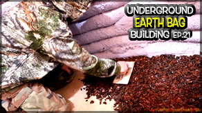 Underground Earth Bag Construction  Episode 21  Paint, Can Lights & Rubber Floor Try!