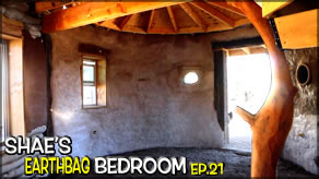 Inside Cob/Stucco & Starting Homemade Stair Railing | Shae's Earthbag Bedroom Ep21 | Weekly Peek