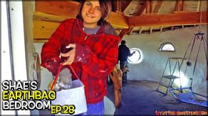 Soil Cement Upper Floor & Sheetrock Mud Walls  | Shae's Earthbag Bedroom Ep28 | Weekly Peek