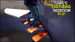 Building Interior Stairs & Burlap Ceiling Finish | Shae's Earthbag Bedroom Ep31 | Weekly Peek
