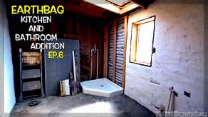Shower Pan, Sheetrock Mud & Window Boxes | Kitchen & Bathroom Earthbag Addition Ep6 | Weekly Peek