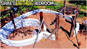 Building the Heart Walls | Shae's Earthbag Bedroom Ep7 | Weekly Peek