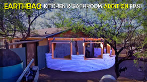 Corrugated Shower Walls & Glass Bottle Plan | Kitchen & Bathroom Earthbag Addition Ep9 | WP