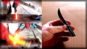 Forging A Knife Out Of Rebar | Blacksmithing | Knife Making