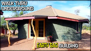 Underground Earth Bag Construction  Episode 37 Walk Thru